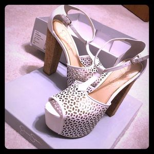 Jessica Simpson platform shoes